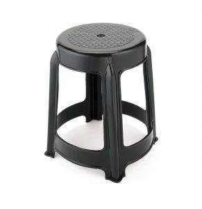 banco de plastico - robusto rey negro