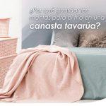 Porque guardar las mantas para el frio en una canasta tavarua