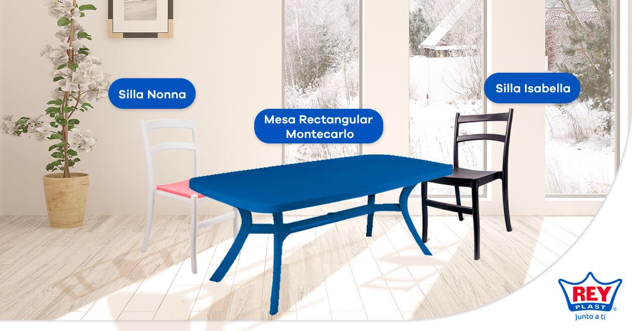decorar con sillas de plástico