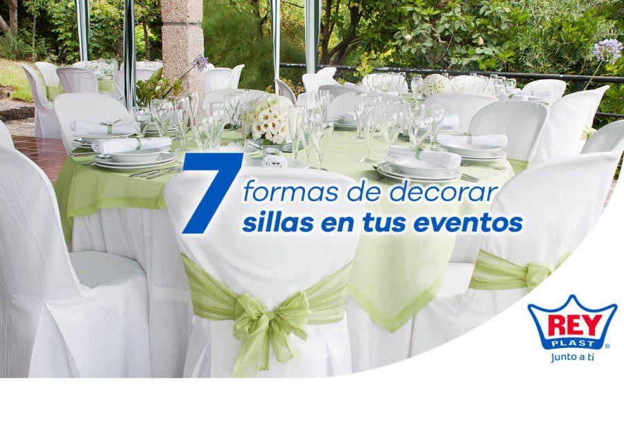 7 formas de decorar sillas de tus eventos